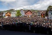 Jedes Jahr am letzten Sonntag im April: die Landsgemeinde in Appenzell. (Bild vom 28.April 2019: KEYSTONE/Christian Merz)