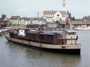 Eines der Trajektschiffe in den 1950-er Jahren im Hafen von Romanshorn. (Bild: SBB-Archiv)