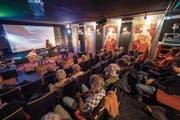 Live-Jazz im früheren Rex-Studio: Chanson-Konzert der Appenzeller Sängerin Karin Enzler vom vergangenen Samstag. (Bild: Hanspeter Schiess)