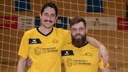 Die beiden NLB-Radballer Beda Planzer (links) und Fabian Hauri. (Bild: PD)