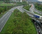 Der Unfall bei der Verzweigung Rotsee sorgte für Rückstau auf den Autobahnen A2 und A14. (Bild: Screenshot Webcam luzernmobil.ch)
