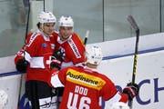 NHL mercenary Nick Hischier guest appearance with Swiss hockey team in Weinfelden. (Photo: Keystone / Salvatore Di Nolfi)