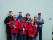Die erfolgreichen Urner am Nachwuchsschwinget in Hitzkirch. (Bild: PD)