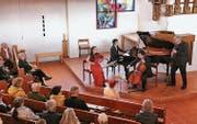 Ein Konzert der Extraklasse füllte den gediegenen, modernen Raum der evangelischen Kirche in Berneck. (Bild: Max Pflüger)