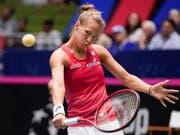 Viktorija Golubic musste beim Turnier in Rabat schon früh die Koffer packen (Bild: KEYSTONE/FR115 AP/DARREN ABATE)