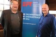 Der scheidende EFT-Präsident Pierre Honegger und sein Nachfolger Stefan Mischler. (Bild: Christof Lampart)