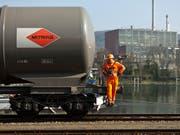 Der Handel zwischen der Schweiz und ihrem wichtigsten Handelspartner Deutschland hat sich im laufenden Jahr verlangsamt. (Bild: KEYSTONE/GAETAN BALLY)
