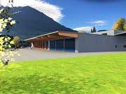 So soll der Neubau Werkhof in Buochs ab Oktober aussehen. (Visualisierung: PD)