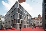 Die Raiffeisen-Zentrale in der Stadt St.Gallen. (Bild: Gaëtan Bally/Keystone (5. Juni 2018))