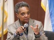 In der Stadt Chicago ist mit Lori Lightfoot erstmals eine schwarze Frau als Bürgermeisterin gewählt worden. (Bild: KEYSTONE/AP/TERESA CRAWFORD)