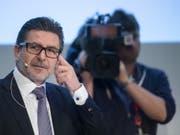Swissgrid-CEO Yves Zumwald erklärte an der Bilanzmedienkonferenz in Aarau, dass die Schweiz unbedingt ein Stromabkommen mit der EU brauche. (Bild: Keystone/ENNIO LEANZA)