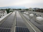 Die Fotovoltaikanlagen an der Steinhauser Hochwachtstrasse. (Bild: PD)