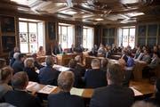 Landratssitzung am 27. Juni 2018 in Stans. (Bild: Corinne Glanzmann)