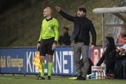 Trainer Ciriaco Sforza dirigiert die Wiler zum ersten Mal. (Bild: Michael Zanghellini/freshfocus)