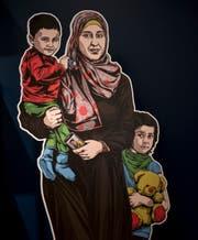 Eine fiktive Geschichte: Hayat Hamid flüchtet mit ihren Kindern in den Libanon. (Bild: Adriana Ortiz Cardozo)