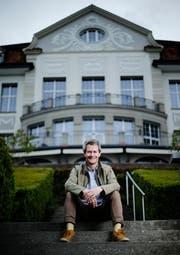 Samuel Steinemann, Intendant des Casino Zug wechselt zum Künstlerhaus Boswil. (Bild: Stefan Kaiser, Zug, 30. April 2019)