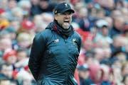 Jürgen Klopp steht bei Liverpool noch bis 2022 unter Vertrag. (Bild: Peter Powell/EPA (Liverpool, 14. April 2019))