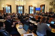 Der Urner Landrat sagte im Februar 2019 ja zum Änderung des Proporzgesetzes. (Bild: Urs Hanhart)