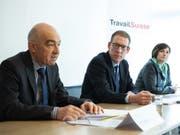 Vertreter von Travail.Suisse und dem Kaufmännischen Verband bezeichnen die AHV-Steuervorlage als «wichtigen Kompromiss» und empfehlen ein Ja am 19. Mai. (Bild: Keystone/PETER SCHNEIDER)