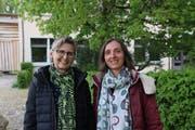 Cécile Sutter (links) mit ihrer Nachfolgerin Claudia Kehl. (Bild: Tobias Söldi)