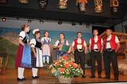 Die Familie Sutter aus St. Gallen trat auch am Jodlerabend auf. (Bild: PD)