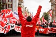 Am 1. Mai kämpfen die Gewerkschaften auch für ihre eigene Existenz. (Bild: Valentin Flauraud/Keystone, Lausanne, 5. November 2018)