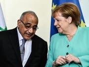 Der irakische Regierungschef Adel Abdel Mahdi bei Kanzlerin Angela Merkel in Berlin. (Bild: KEYSTONE/EPA/FILIP SINGER)