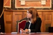 FDP-Chefin Petra Gössi: Wer hat die Umfrage geleakt. (Bild: KEY)