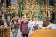 Die Stadt legt bei den Logiernächten erneut zu. Jedoch kommen weniger Gäste aus China, dafür mehr aus Nordamerika. Bild: Urs Bucher