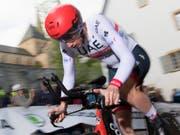 Der Ostschweizer Tom Bohli verpasste den Sieg im Prolog der Tour de Romandie erneut nur knapp und wurde Dritter (Bild: KEYSTONE/LAURENT GILLIERON)