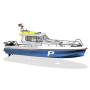 So sieht das neue Schwyzer Polizeiboot aus. (Bild: Shiptec)