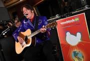 Musiker John Fogerty trat an der Veranstaltung zur Bekanntgabe des Programms des Woodstock 50 auf. (Bild: Evan Agostini/Invision/AP, New York, 19. März 2019)