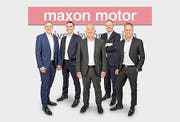 Das aktuelle globale Management von Maxon (von links): Martin Zimmermann, Norbert Bitzi, Eugen Elmiger, Ulrich Claessen und Björn Axelsson. (Bild: Maxon)