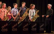 Die Swing Kids haben fast jede Woche einen Auftritt: Hier am Neujahrsempfang in Salmsach 2018. (Bild: Reto Martin)