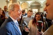 Der bisherige SVP-Regierungsrat Paul Winiker hat von den verbliebenen Kandidaten für den zweiten Wahlgang vom 19. Mai das beste Resultat erzielt. (Bild: Keystone/Urs Flüeler, Luzern, 31. März 2019)