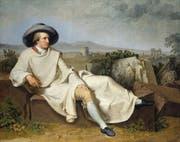 Tischbein malt Goethe als Dichterfürsten umgeben von Relikten der Antike, von welcher beide gleichermassen begeistert waren. (Bild: Getty)