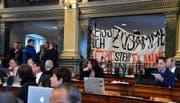 Im Februar hatten Klimastreiker die Sitzung des Kantonsrates gestört. (Bild: Regina Kühne)