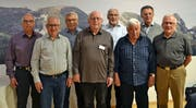 Sie setzten und setzen sich für den Verein Tixi Toggenburg ein: Werner Meile (Rücktritt), Walter Fischbacher (neu), Fredi Roth (Rücktritt), Fridolin Vetsch, Jack Fehr (Präsident), Werner Winteler, Eduard Wassmer (neu) und Coni Egger (von links). Bild: Peter Jenni