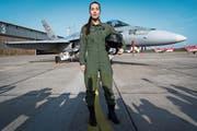 Fanny Chollet ist die erste Schweizer Kampfflugzeug-Pilotin. (Bild: Laurent Gillieron/Keystone, Payerne, 19. Februar 2019)