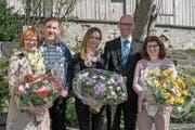 An der Kirchbürgerversammlung (v.l.): Manuela Ferrari, Kurt Halter, Esther Mattle, Marcel Kuster, Monika Schafhäutle. (Bild: pd)