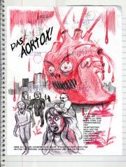 Emil Ferris stellt sich in «Am liebsten mag ich Monster» fantasievolle Ungeheuer vor: Hier eine Persiflage des Valentinstags. (Bild: Panini)