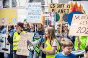 Demonstranten in Frauenfeld. (Bild: Andrea Stalder)