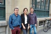 Ein Teil des Vorstandes der IG Kultur Ost: Peter Surber, Präsidentin Ann Katrin Cooper und Philip Stuber (von links). (Bild: Urs-Peter Zwingli)