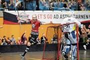 Der Sarner Robin Markström ist der überragende Mann, erzielt zwei Tore und gibt drei Vorlagen. (Bild: Philipp Schmidli (Sarnen, 7. April 2019))