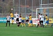 Der FC Gams ging nach einer Standardsituation früh mit 1:0 in Front und bezwang zum Rückrundenstart den FC Mels II mit 4:2. (Bild: Michael Vetsch)