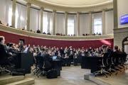Der Luzerner Kantonsrat während der Sondersession zur Aufgaben- und Finanzreform (AFR) 18. (Bild: Nadia Schärli, Luzern, 18. Februar 2019)