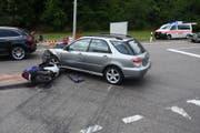 Die Missachtung des Vortritts gilt als eine der Unfall-Hauptursachen auf den Strassen im Kanton St.Gallen. (Bild: Kantonspolizei St.Gallen)
