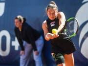 Aller Einsatz nützte nichts: Ylenia In-Albon verlor ihre erste Partie im Hauptfeld eines WTA-Turniers in Lugano (Bild: KEYSTONE/TI-PRESS/ALESSANDRO CRINARI)