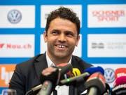 Uli Forte bei seiner Vorstellung als neuer GC-Trainer am Dienstag in Zürich (Bild: KEYSTONE/ENNIO LEANZA)