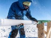 Nach langer Suche haben Forschende den besten Ort in der Antarktis ausfindig gemacht, um nach dem ältesten Eis zu suchen. (Bild: Thibaut Vergoz)